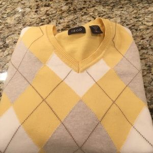 Izod Yellow Argyle Sweater